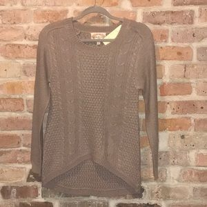 high low beige sweater NWT small